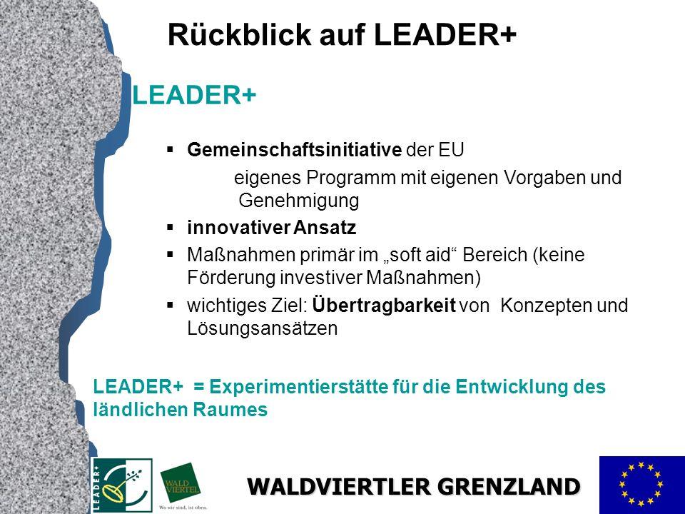 Rückblick auf LEADER+ LEADER+ Gemeinschaftsinitiative der EU