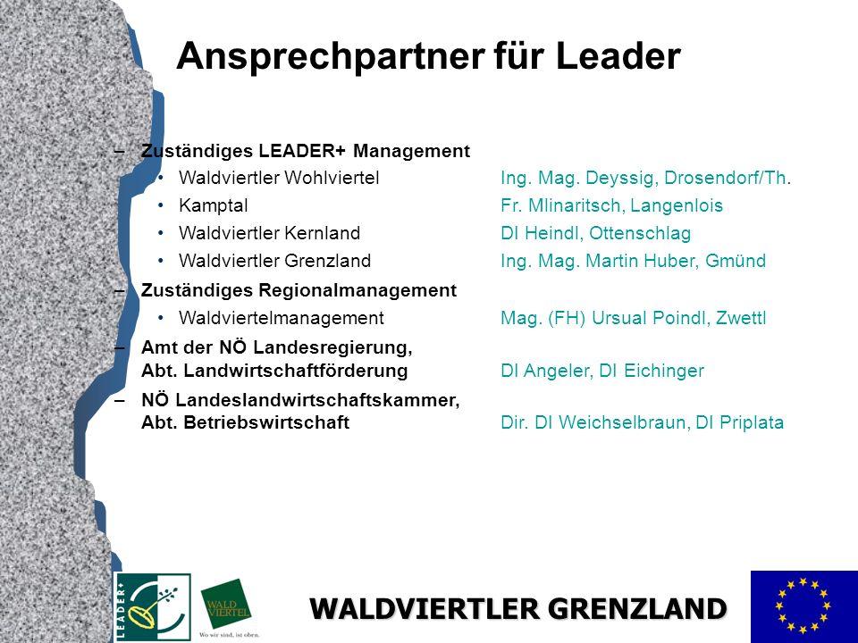 Ansprechpartner für Leader