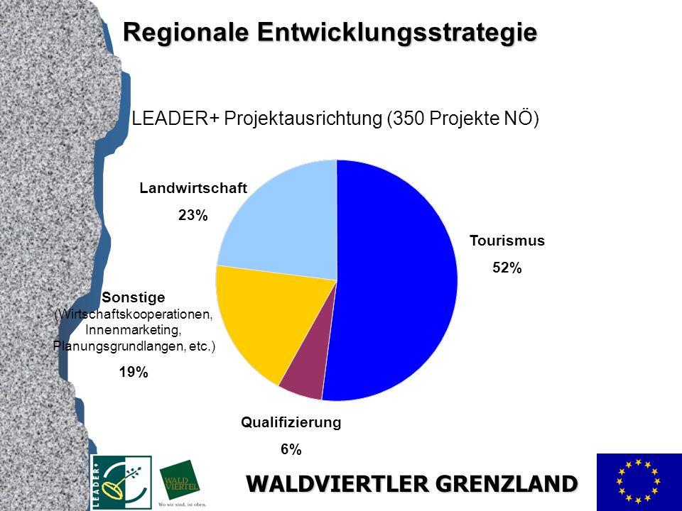 LEADER+ Projektausrichtung (350 Projekte NÖ)