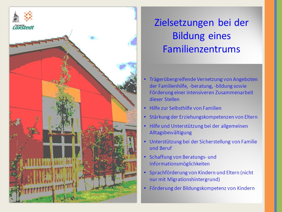 Zielsetzungen bei der Bildung eines Familienzentrums