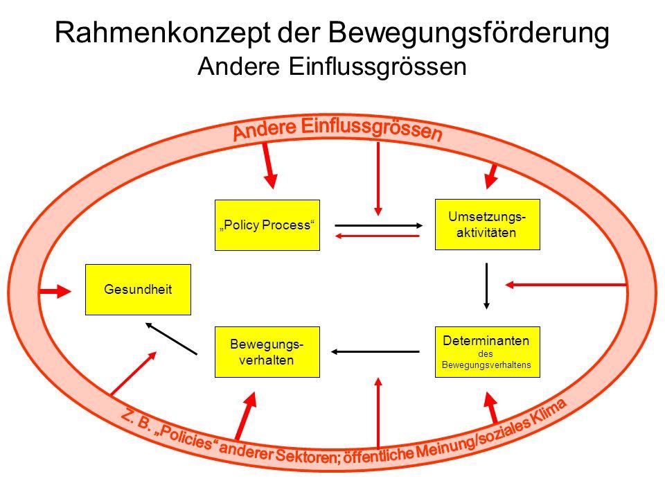 Rahmenkonzept der Bewegungsförderung Andere Einflussgrössen