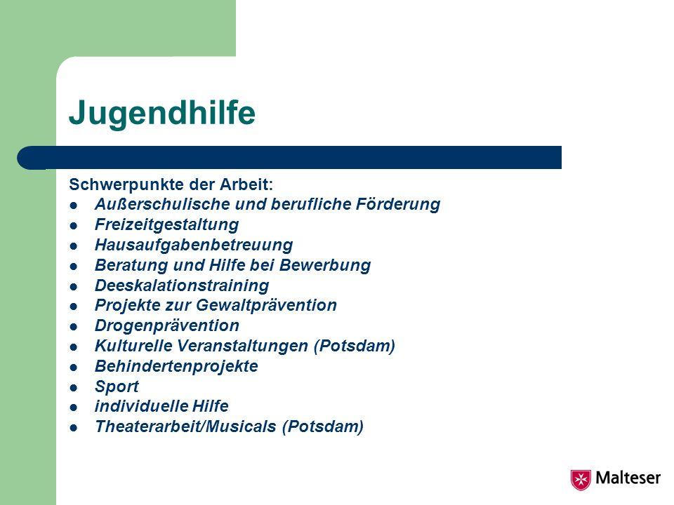 Jugendhilfe Schwerpunkte der Arbeit: