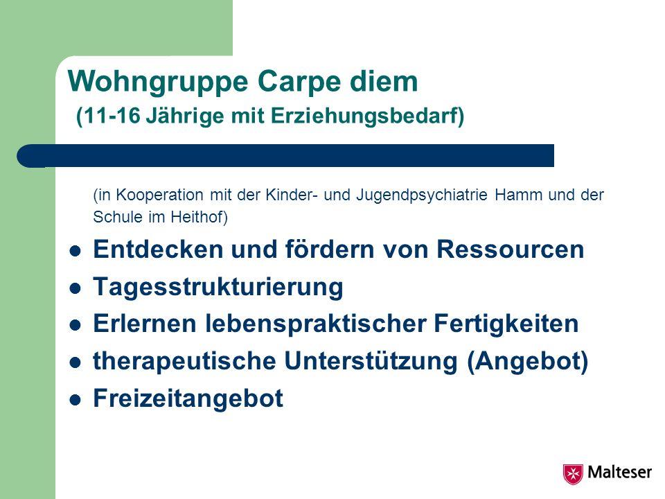 Wohngruppe Carpe diem (11-16 Jährige mit Erziehungsbedarf)