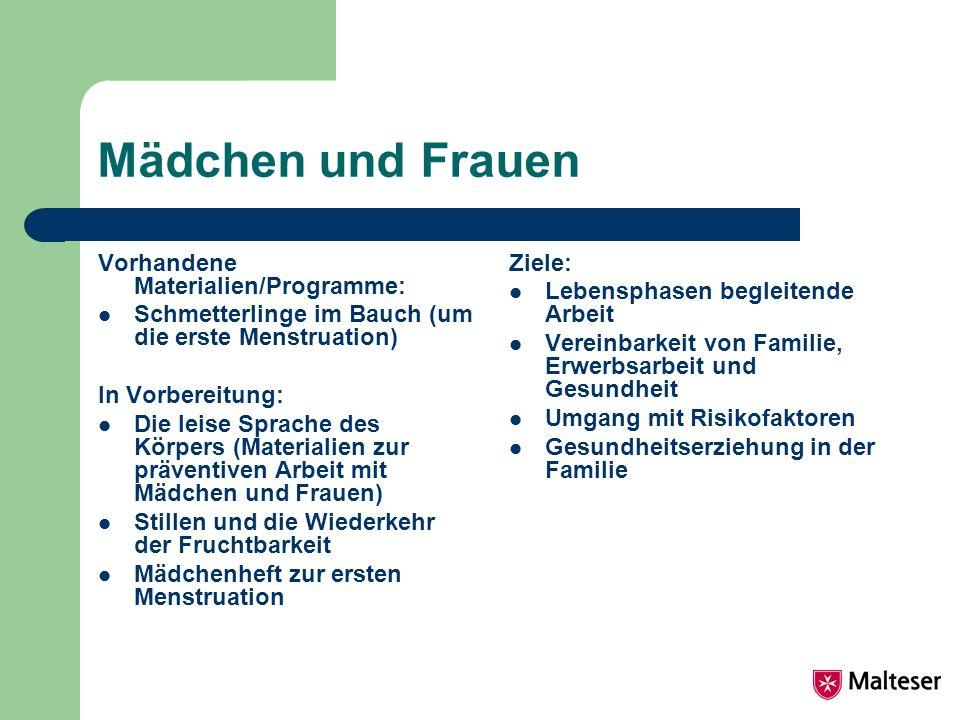 Mädchen und Frauen Vorhandene Materialien/Programme: