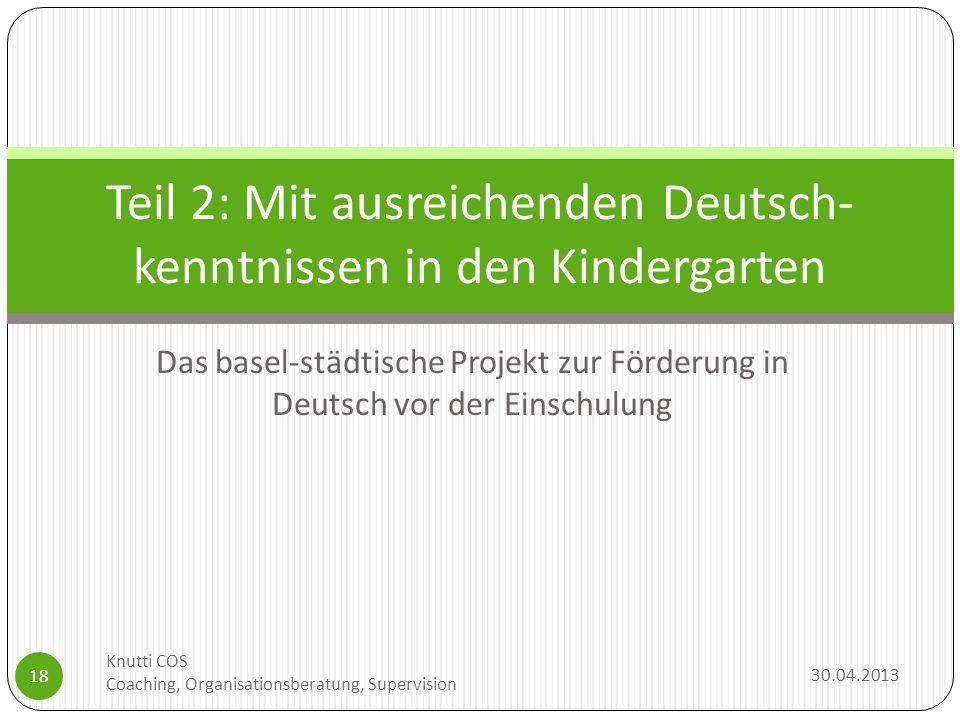 Teil 2: Mit ausreichenden Deutsch-kenntnissen in den Kindergarten