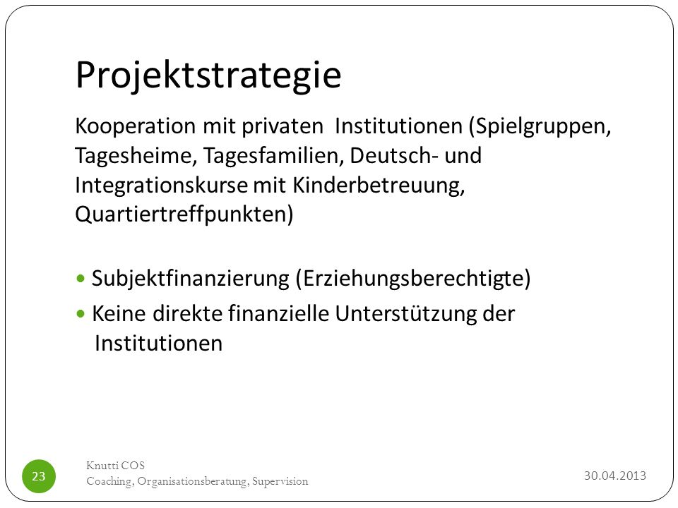 Projektstrategie