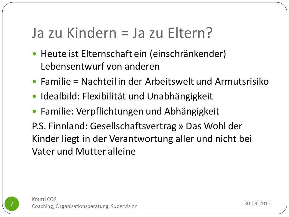 Ja zu Kindern = Ja zu Eltern