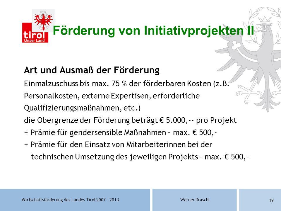 Förderung von Initiativprojekten II