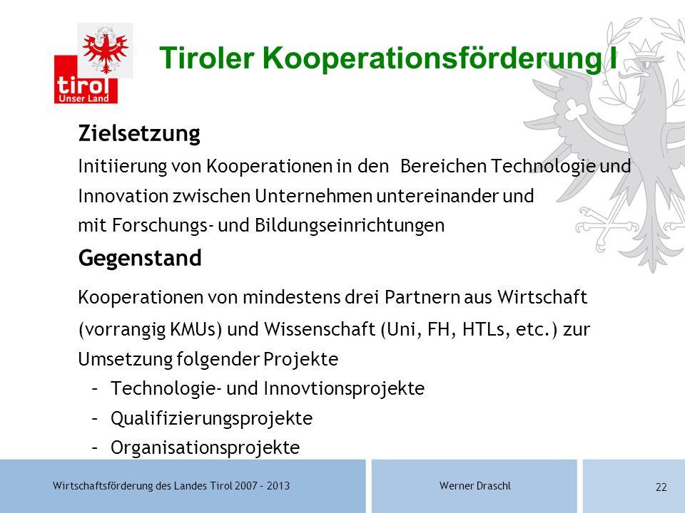 Tiroler Kooperationsförderung I