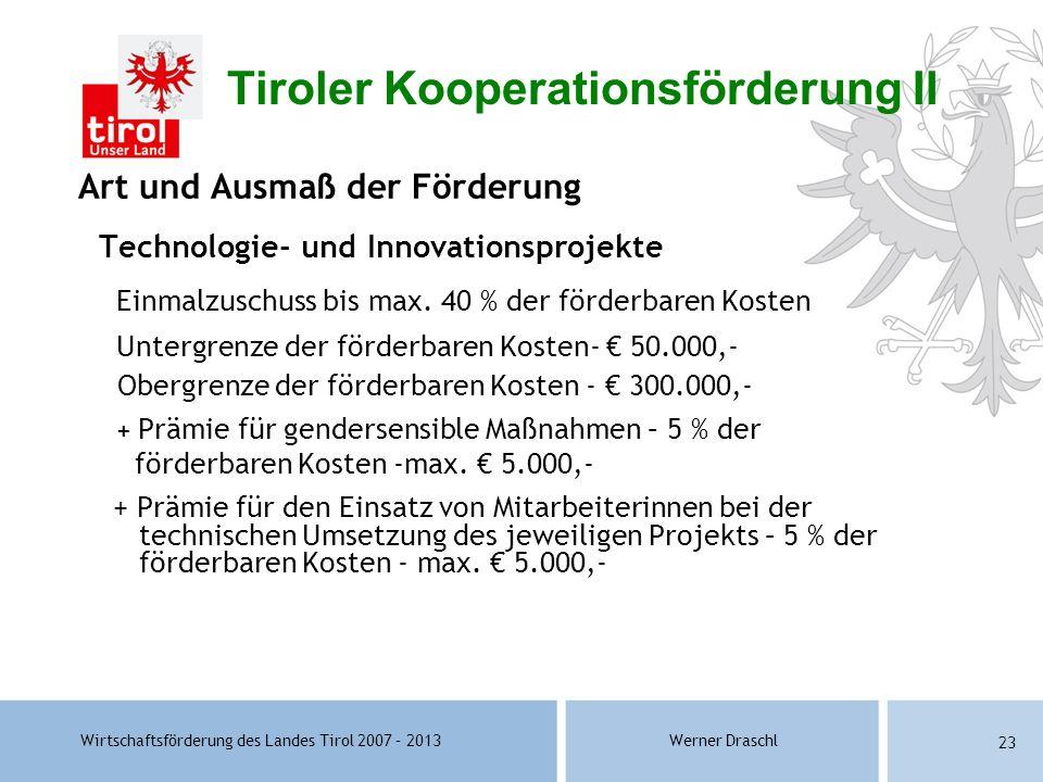 Tiroler Kooperationsförderung II