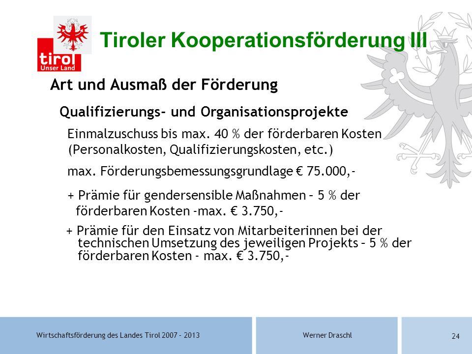 Tiroler Kooperationsförderung III