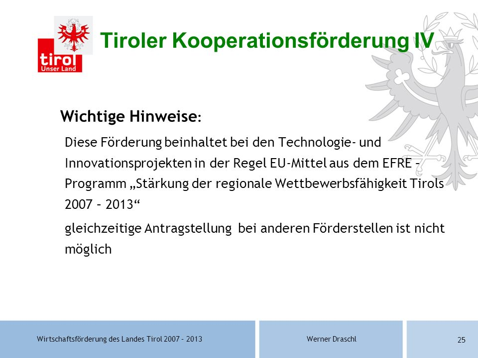 Tiroler Kooperationsförderung IV