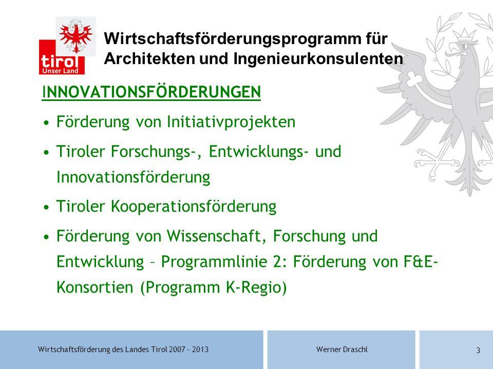 Wirtschaftsförderungsprogramm für Architekten und Ingenieurkonsulenten