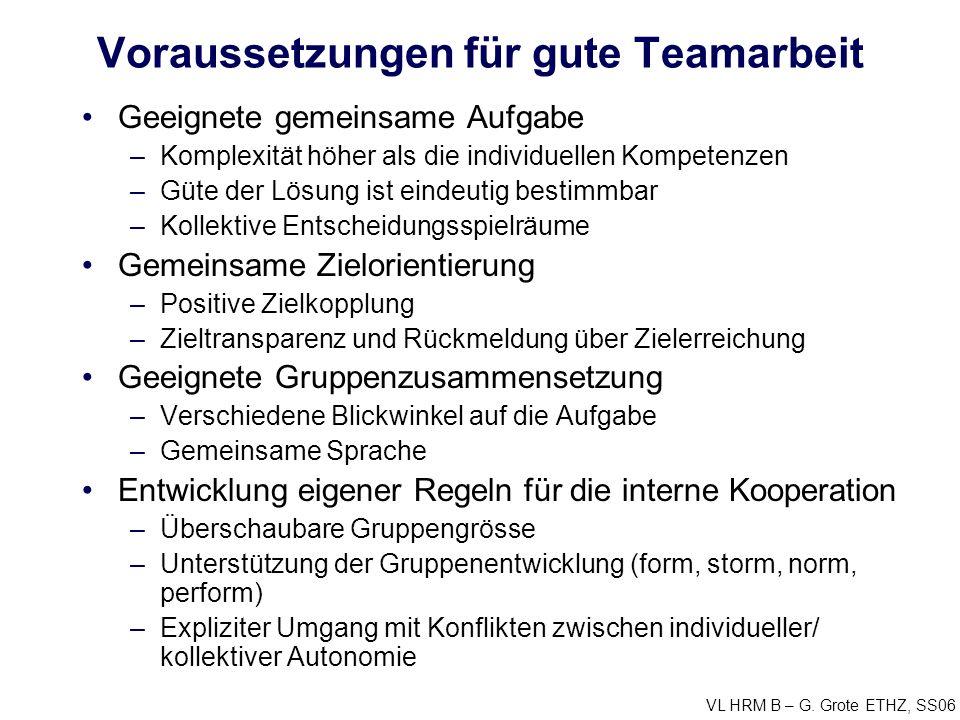 Voraussetzungen für gute Teamarbeit