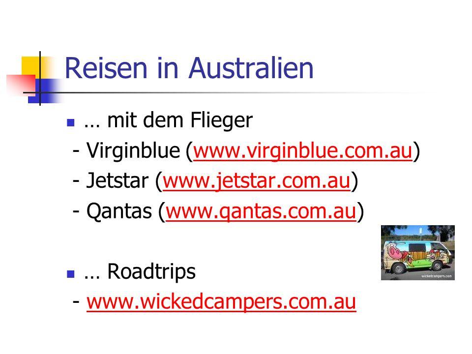 Reisen in Australien … mit dem Flieger