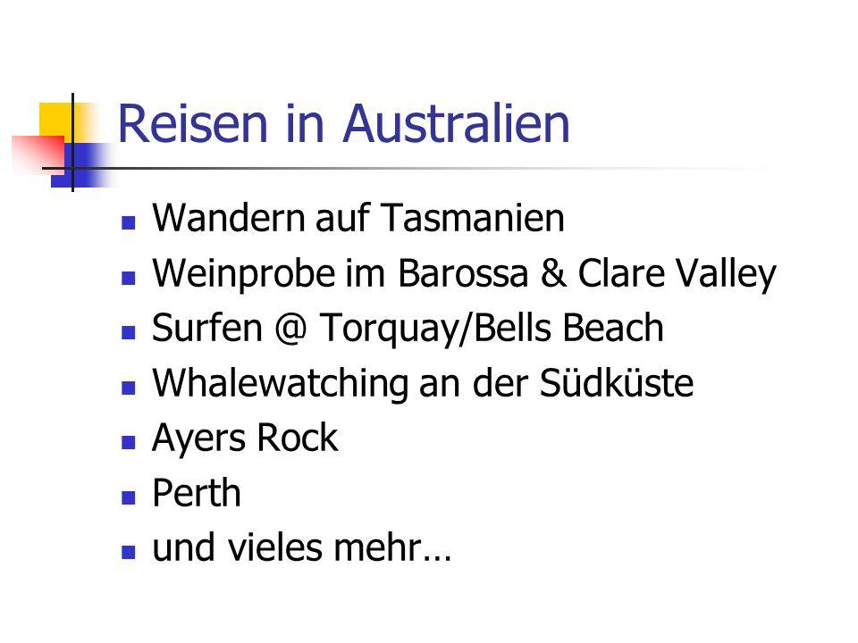 Reisen in Australien Wandern auf Tasmanien
