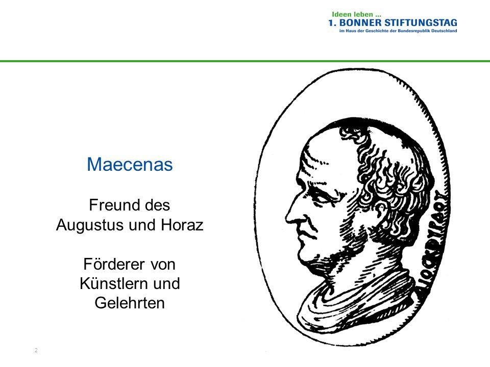 Maecenas Freund des Augustus und Horaz