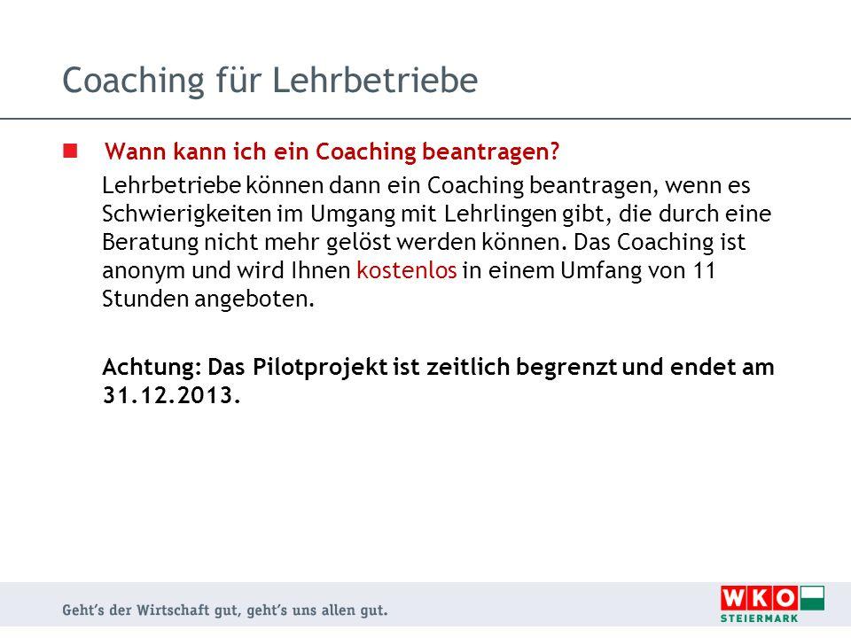 Coaching für Lehrbetriebe