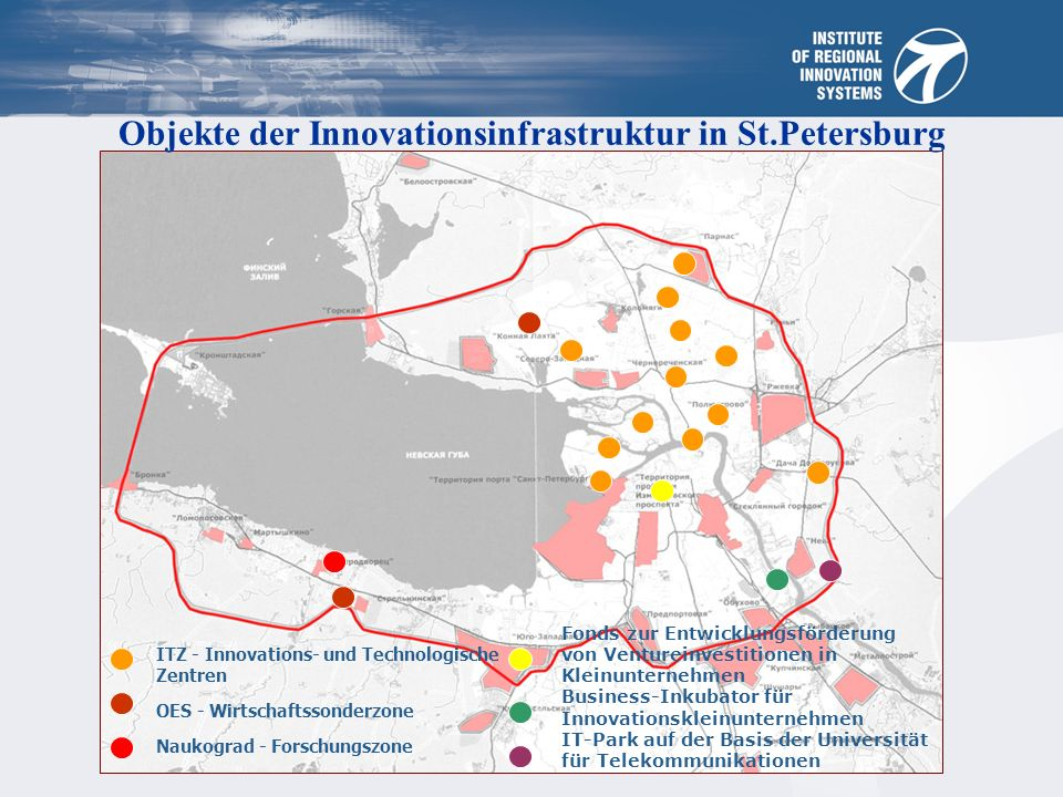 Objekte der Innovationsinfrastruktur in St.Petersburg