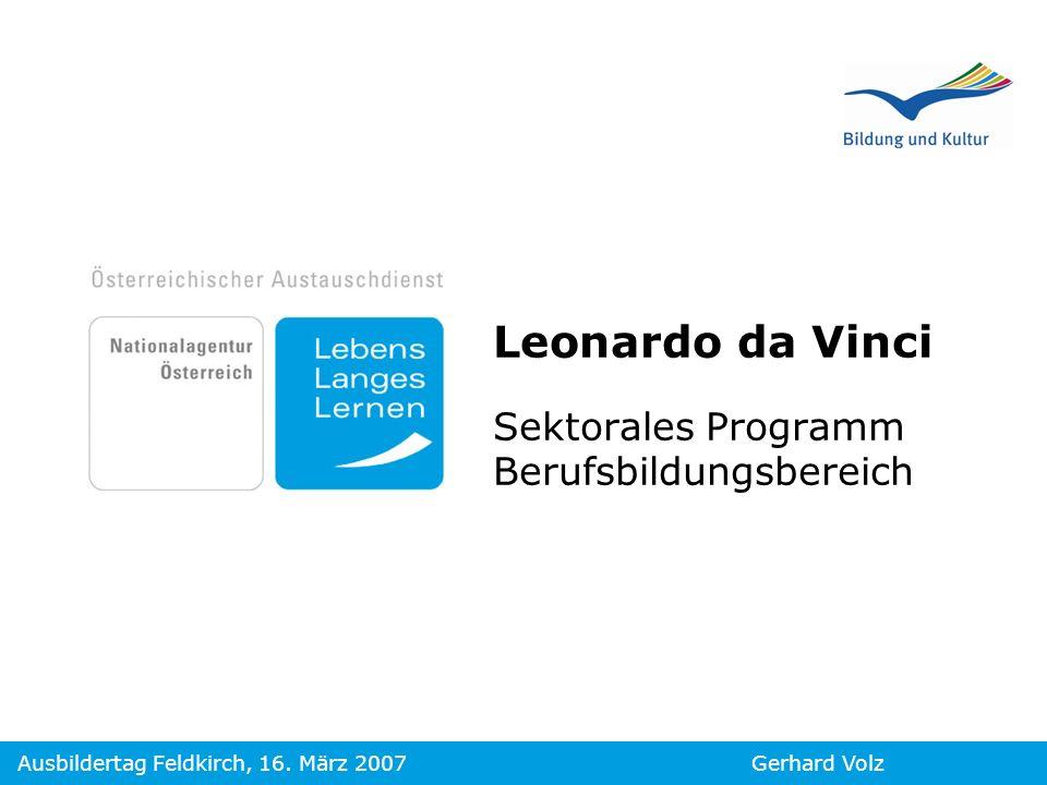 Leonardo da Vinci Sektorales Programm Berufsbildungsbereich