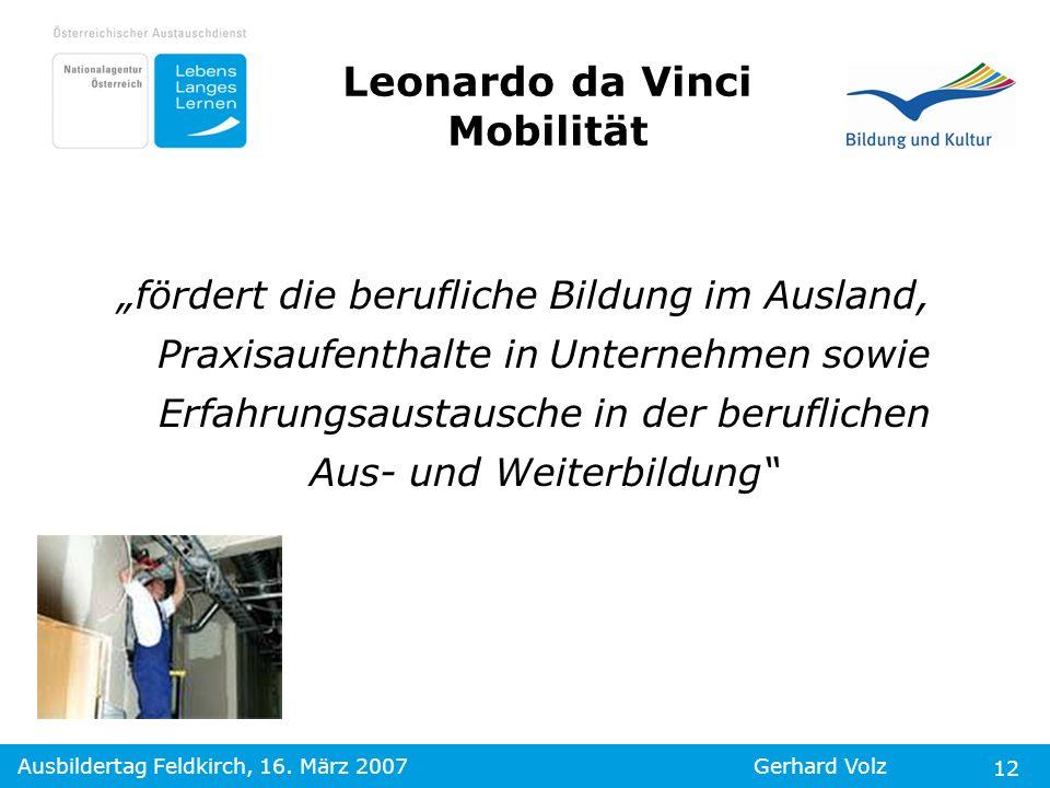Leonardo da Vinci Mobilität