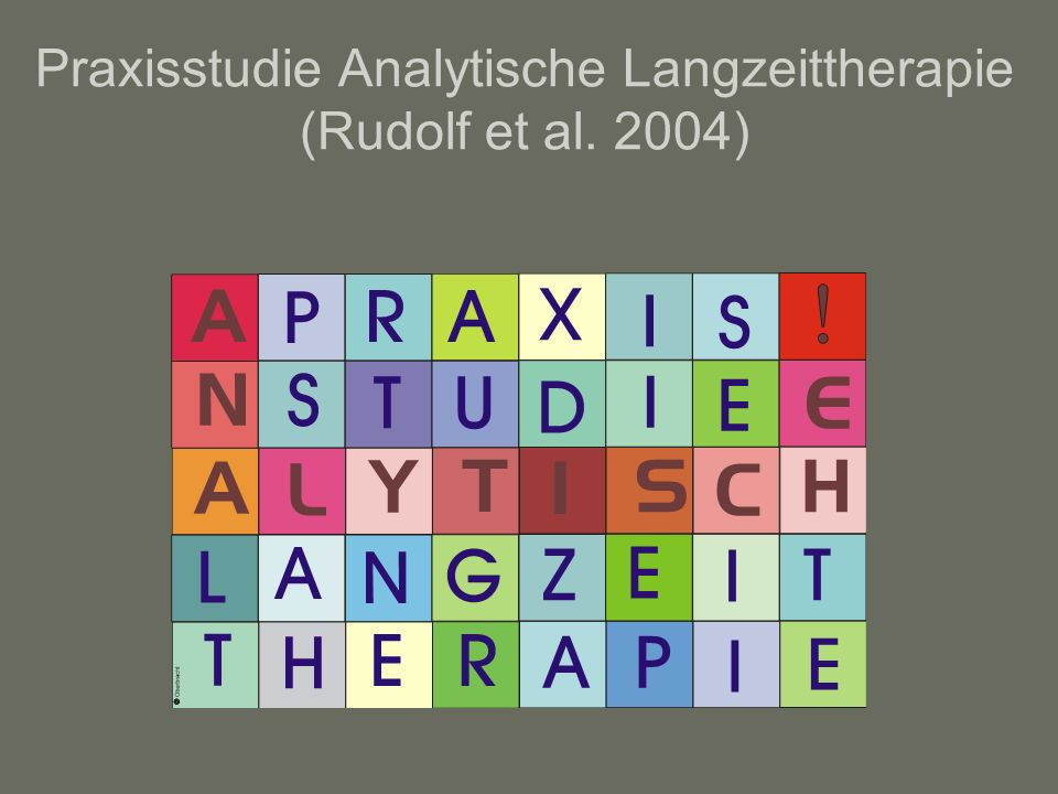 Praxisstudie Analytische Langzeittherapie (Rudolf et al. 2004)