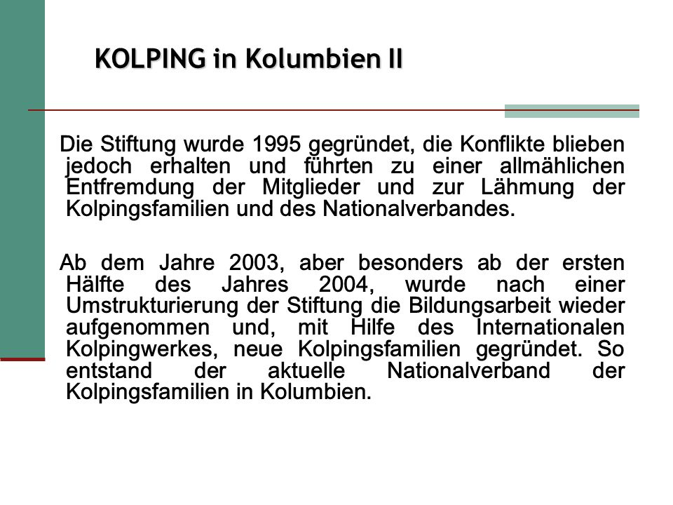 KOLPING in Kolumbien II