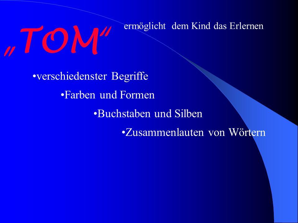 """""""TOM verschiedenster Begriffe Farben und Formen Buchstaben und Silben"""