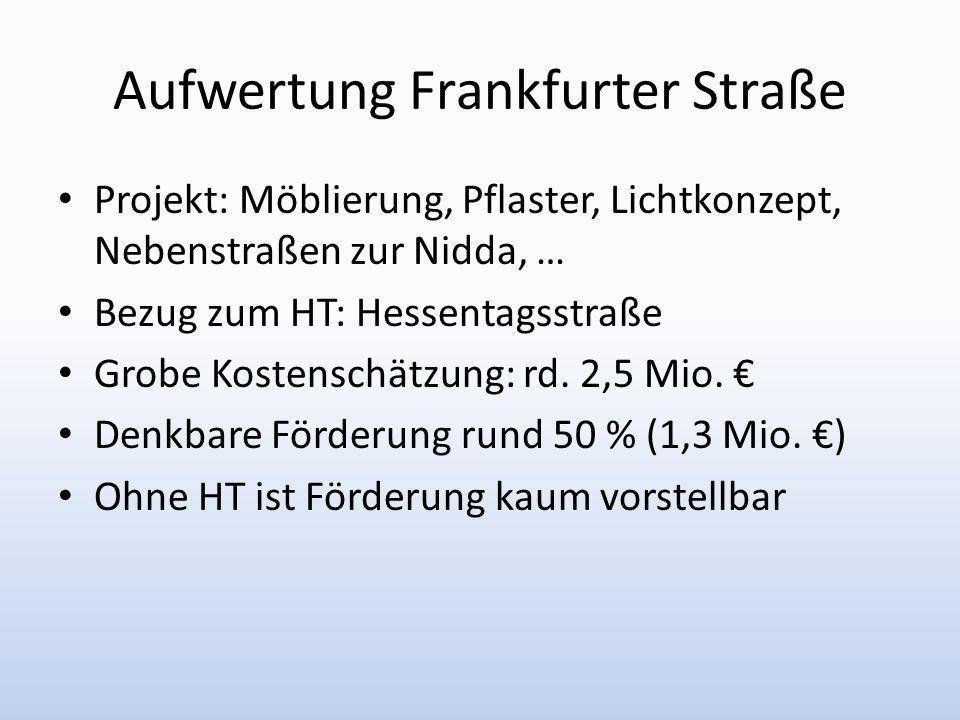 Aufwertung Frankfurter Straße