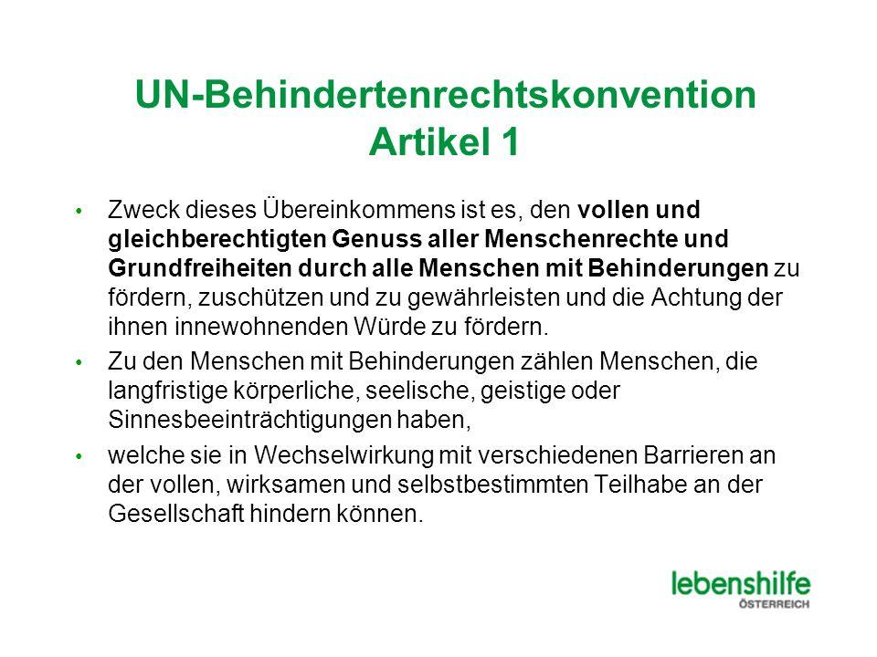UN-Behindertenrechtskonvention Artikel 1