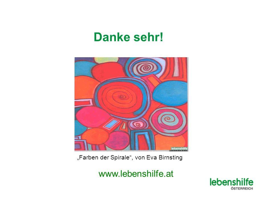 """Danke sehr! """"Farben der Spirale , von Eva Birnsting www.lebenshilfe.at"""