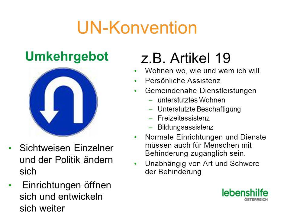 UN-Konvention z.B. Artikel 19 Umkehrgebot