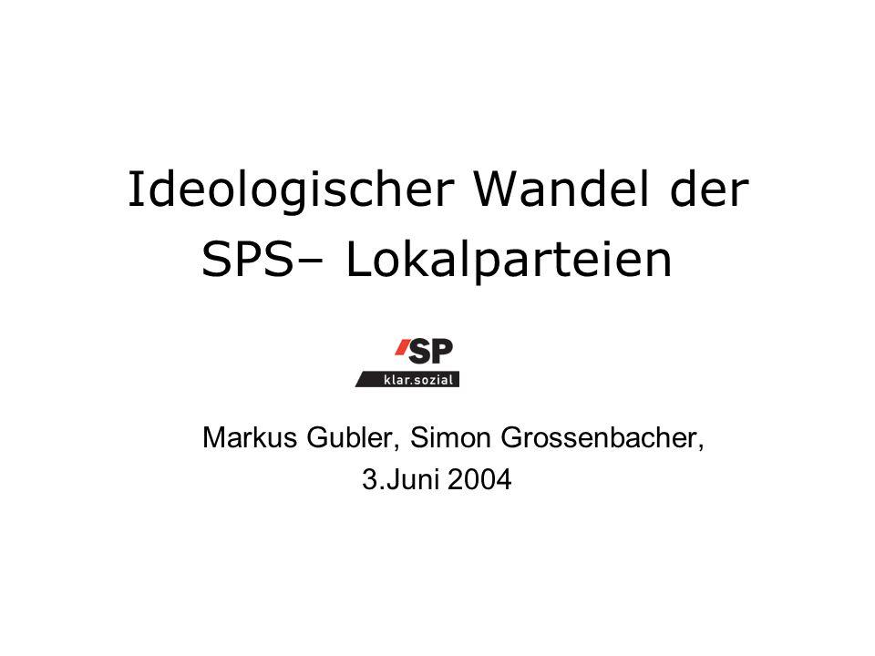 Ideologischer Wandel der SPS– Lokalparteien