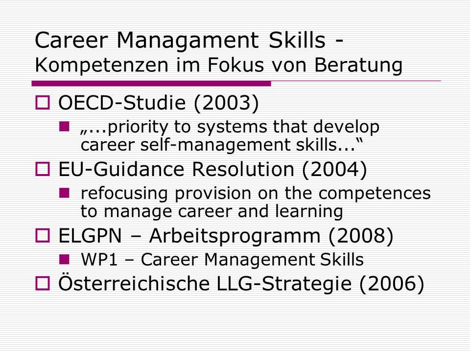Career Managament Skills -Kompetenzen im Fokus von Beratung
