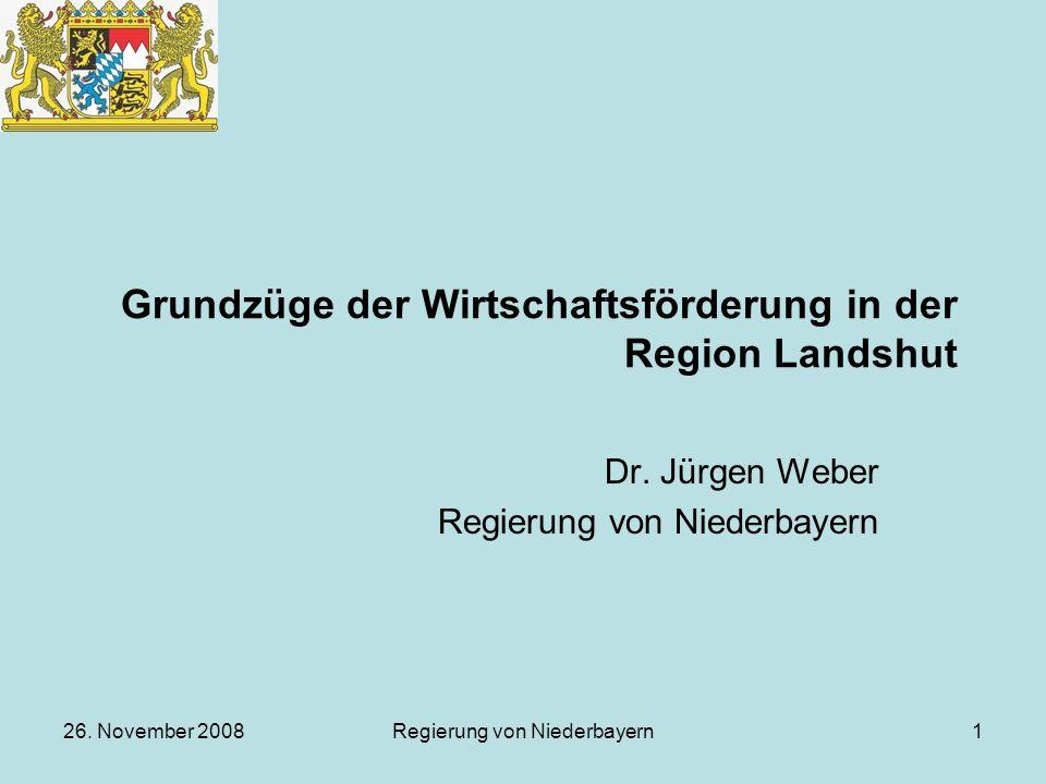 Grundzüge der Wirtschaftsförderung in der Region Landshut