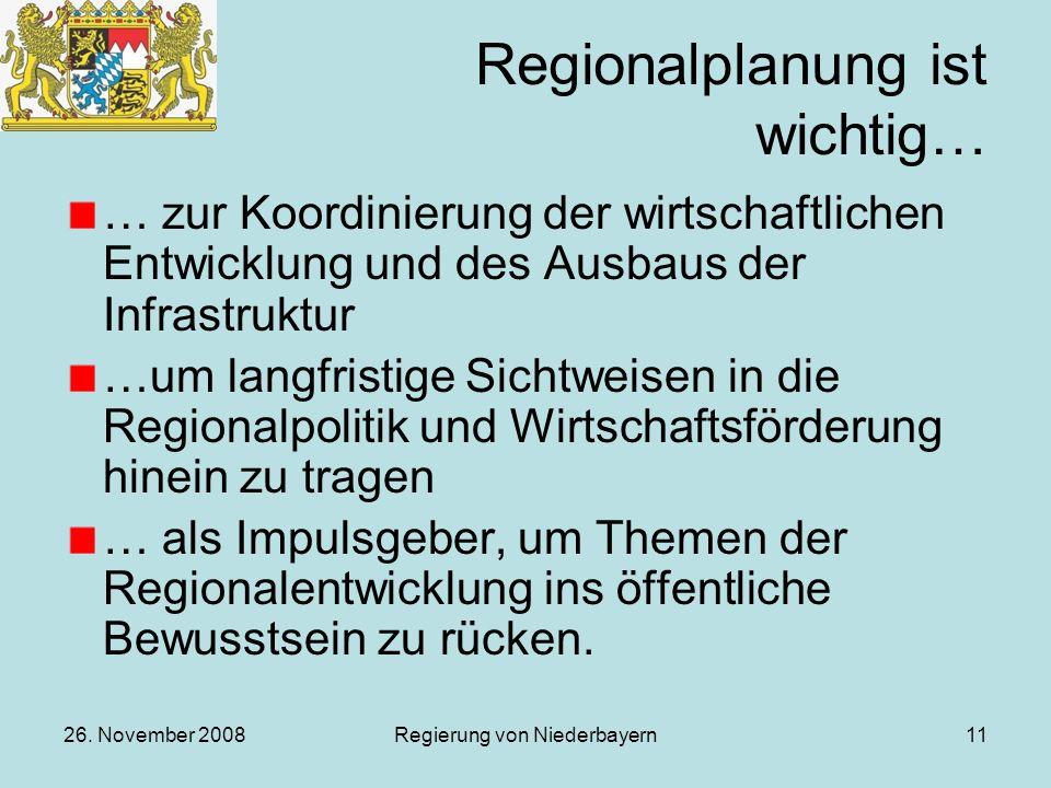 Regionalplanung ist wichtig…