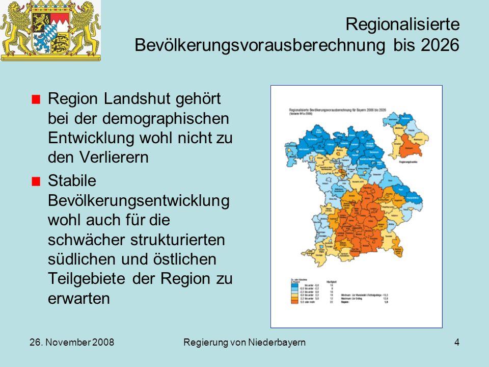 Regionalisierte Bevölkerungsvorausberechnung bis 2026