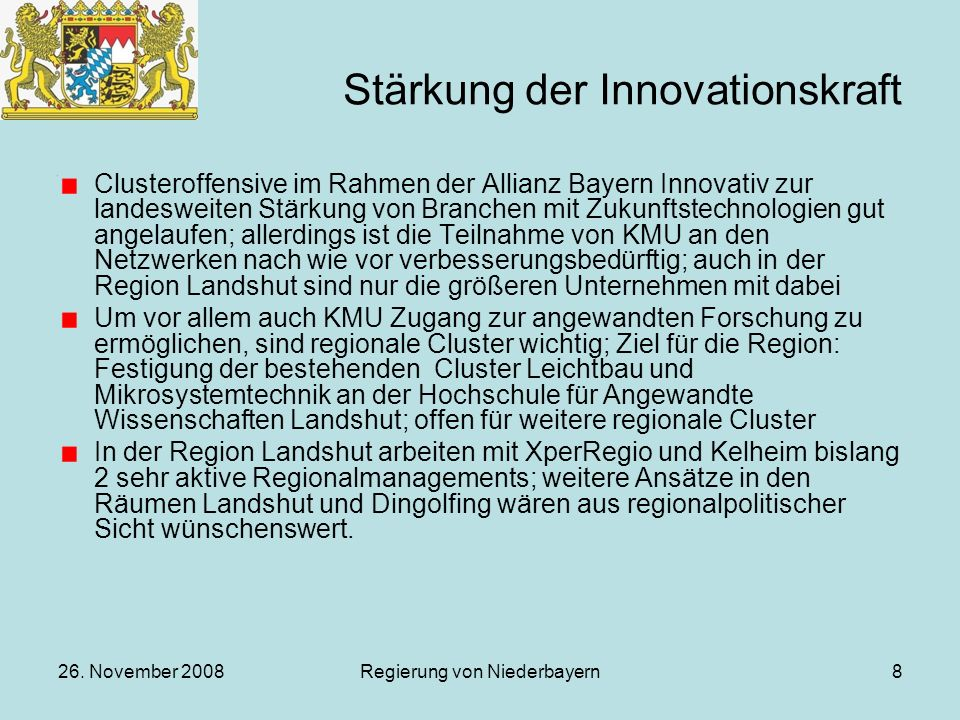 Stärkung der Innovationskraft