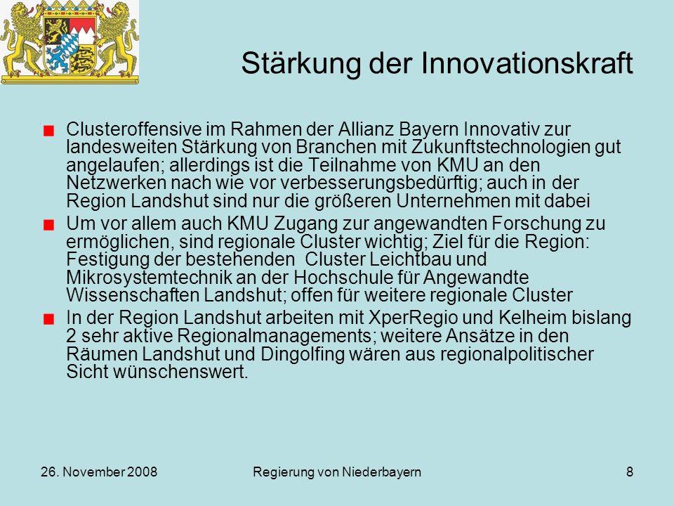 Stärkung der Innovationskraft