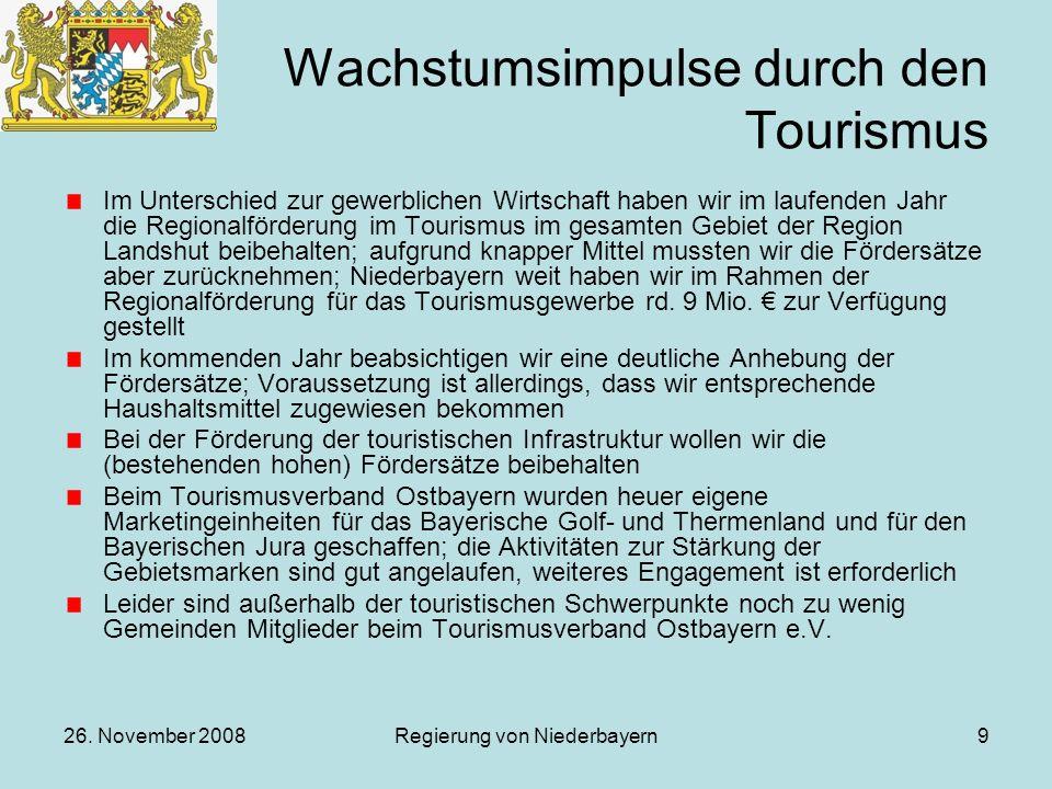 Wachstumsimpulse durch den Tourismus