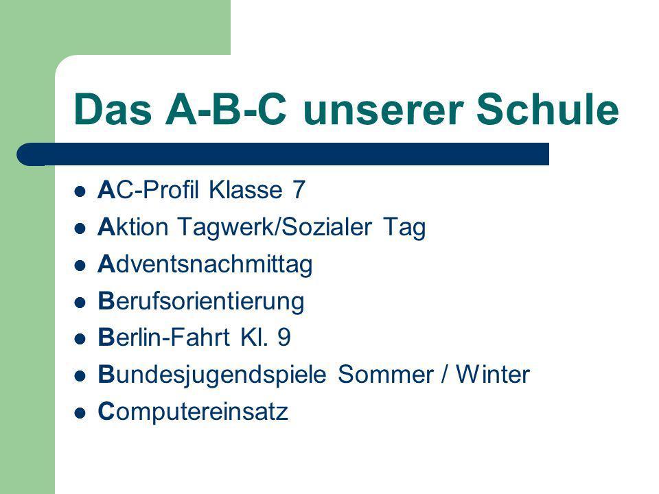 Das A-B-C unserer Schule