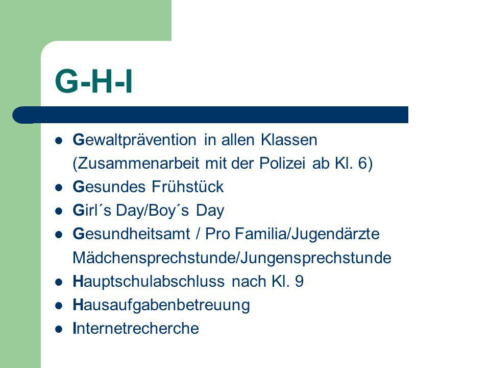 G-H-I Gewaltprävention in allen Klassen