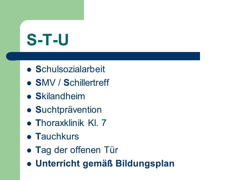 S-T-U Schulsozialarbeit SMV / Schillertreff Skilandheim