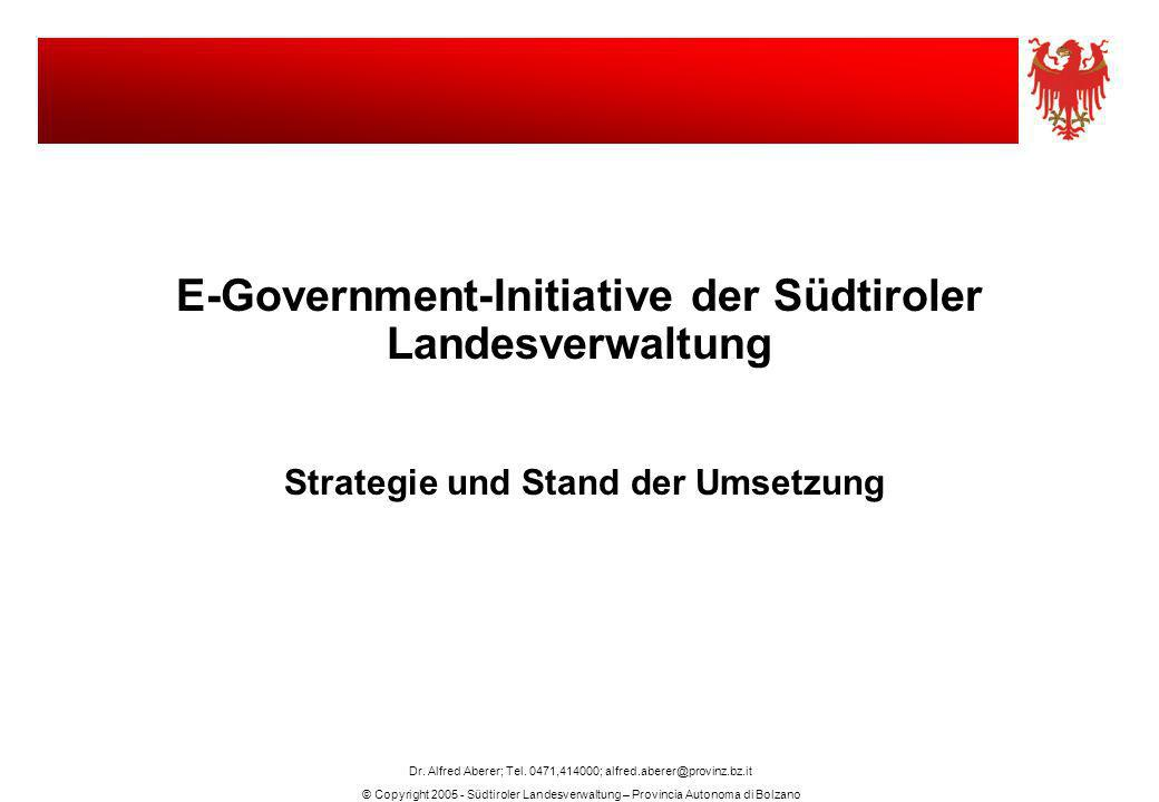 E-Government-Initiative der Südtiroler Landesverwaltung
