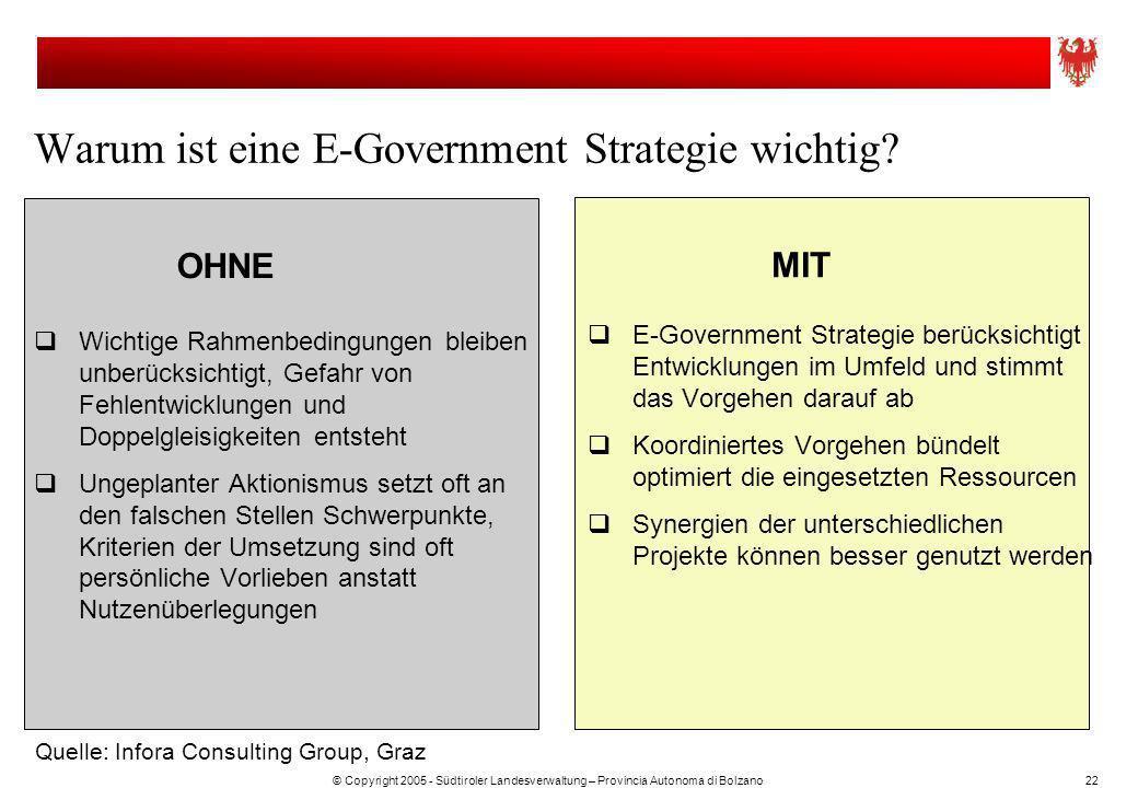 Warum ist eine E-Government Strategie wichtig