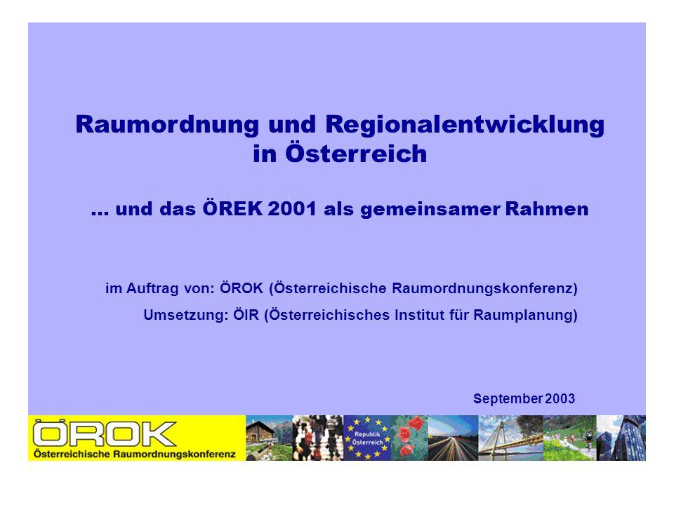 Raumordnung und Regionalentwicklung in Österreich