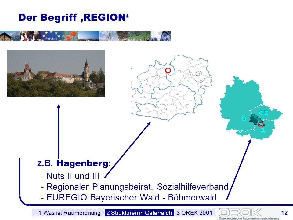 Der Begriff 'REGION' z.B. Hagenberg: