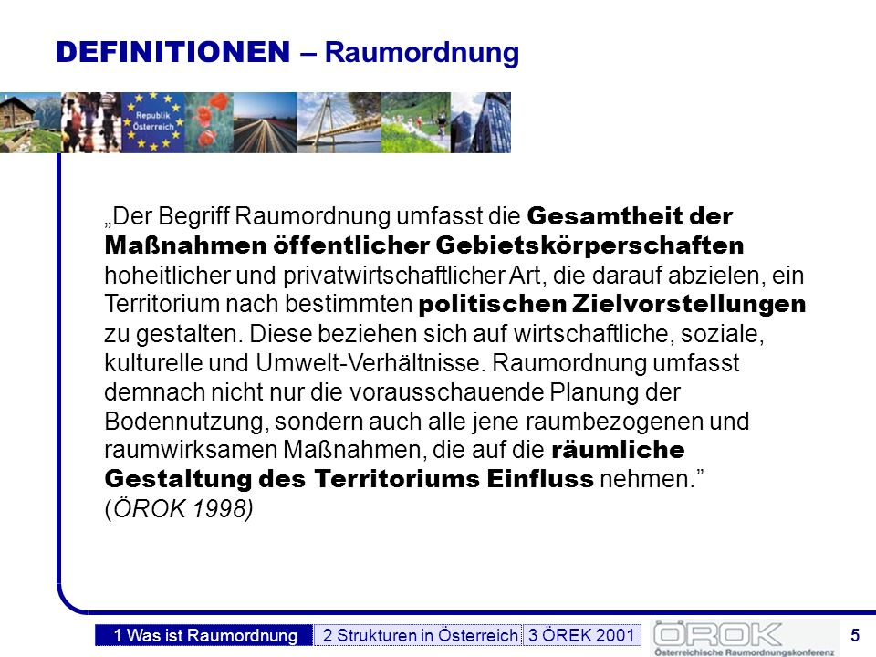 DEFINITIONEN – Raumordnung