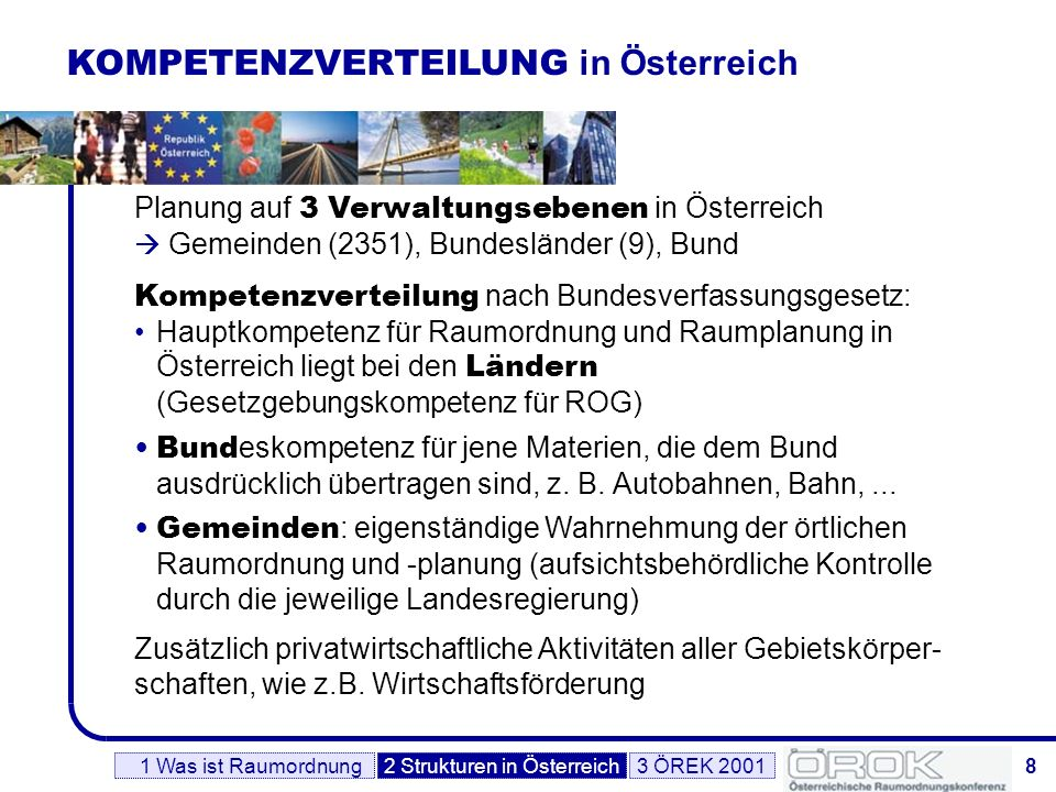 KOMPETENZVERTEILUNG in Österreich