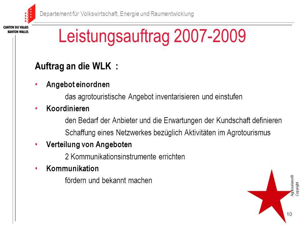 Leistungsauftrag 2007-2009 Auftrag an die WLK : Angebot einordnen